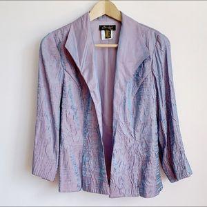 vintage iridescent crinkle metallic jacket